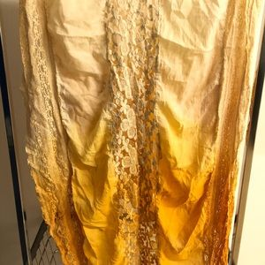 Yellow ombré free people scarf